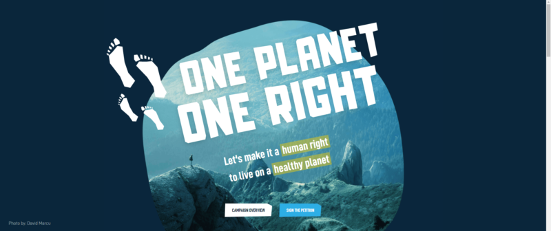 окружающая среда петиция 1